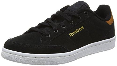 Reebok Royal Smash Sde, Chaussures de Sport Femme Noir - Negro (Black / Ash Grey / Brown Malt / White / Gold)