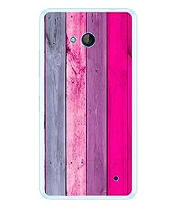PrintVisa Designer Back Case Cover for Microsoft Lumia 640 LTE (Colourful Wood Design)