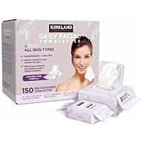 Kirkland Signature diaria Facial towelettes 150 Toallitas prehumedecidas