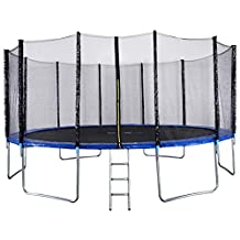 IDEALT Outdoor Sports Garden Trampoline with Safety Enclosure (8ft)