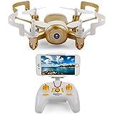 LiDiRC JXD512DW 6 Eje Mini WIFI en tiempo real de transmisión de aviones no tripulados con la cámara de HD 3D RC Quadcopter rollo (color al azar: negro / oro)