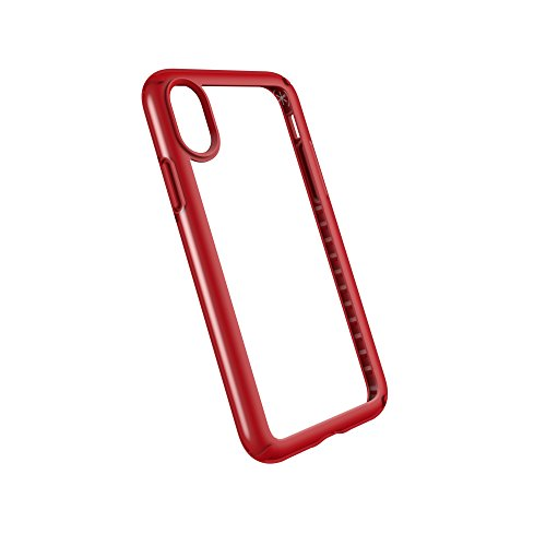 Speck 103134-5905  Presidio Schutzhülle für Apple iPhone X klar/schwarz Clear/Heartthrob Red