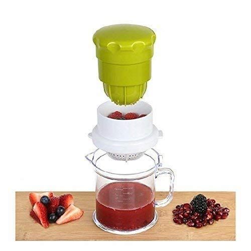 kruton 2 in 1 Manual Citrus and Pomegranate Plastic Juicer (Standard Size, Multicolour)