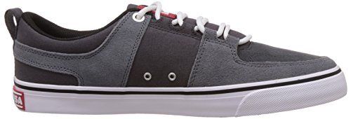 DC Shoes Lynx Vulc M, Baskets Basses Homme Gris (Grey/Grey/Red)