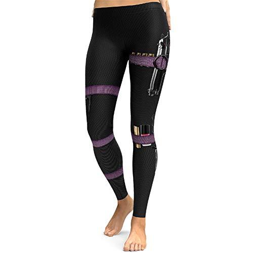 LQFLD Damen Yoga Leggings, Yoga-Hosen Mit Damenbekleidung Und Aufdruck, Geraffte Po-Lifting-Leggings Mit Stretch-Workout Und Beute-Strumpfhose,A,M