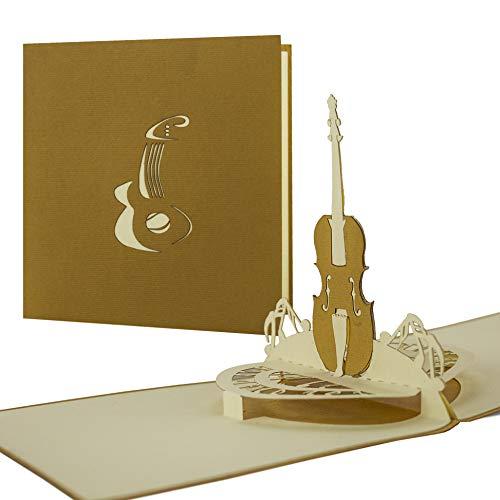 Karte für Musiker, Glückwunschkarte, Geburtstagskarte, Instrument, Gitarre, Geige, Cello, Bass, Grußkarten, Glückwunschkarten, Gutschein Musik H02