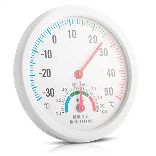 Luwu-Store Mini Reloj Forma Interior Higrómetro Exterior