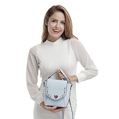 Ysinobear Kuriertasche Henkeltaschen Weiblichen Beutel Damen Handtaschen für Frauen Rosa Hellblau