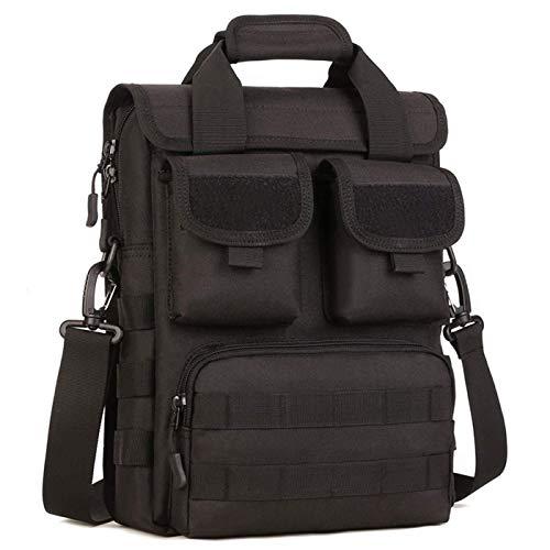 CamGo Taktische Aktentasche Militär Laptop Messenger Bag Computer Schultertasche Engineers Herren Handtaschen Heavy Duty mit Schultergurt, mehrere Taschen und Fächer, schwarz, One_Size (Taktische Geburtstag)