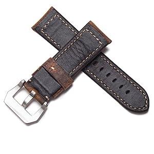 WatchAssassin Vintage envejecido lujo italiano piel correa de reloj banda 22mm o 24mm por WatchAssassin
