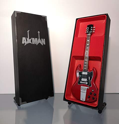 Miniatura Guitarra Replica: Angus Young SG Standard–Modelo Mini Rock Memorabilia réplica de madera miniatura guitarra & Libre Pantalla Soporte (vendedor de Reino Unido)