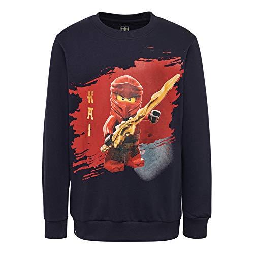 LEGO Jungen Ninjago cm Sweatshirt, Blau (Dark Navy 590), Herstellergröße: 128