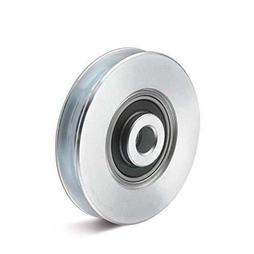 Seilrolle aus Stahl mit Kugellager und halbrunder Nut 40mm Test