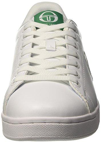 Sergio Tacchini Herren Gran Torino Low-Top Bianco (White/Green)