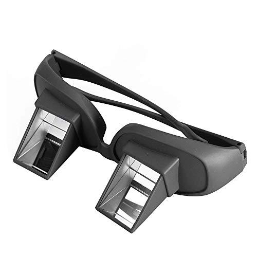 Trifycore Cama de Alta definición de Gafas de Prisma Horizontal Perezoso Creativo periscopio Ver Las Gafas Normales de Lectura vidrios Negros, Salud y Cuidado Personal