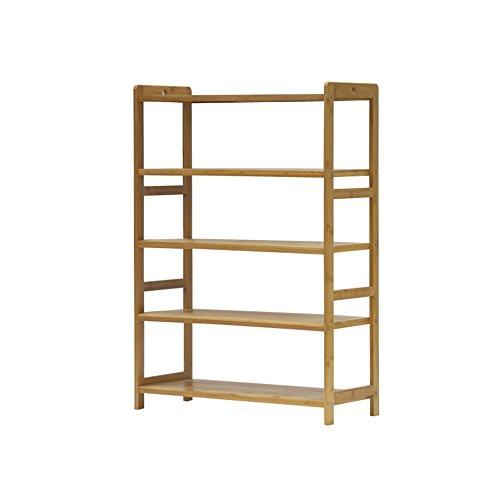 Schuhregal YNN Bambus Organizer-5 Tier-15 Paar Schuhe-Multifunktionale Lagerung Regal-Gut für Flur Wohnzimmer Schlafzimmer (Größe : 50*25*85cm) (Bank Schlafzimmer Nussbaum)