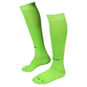 Willmax Football Sports Stocking Soccer Plus Fluro Green M