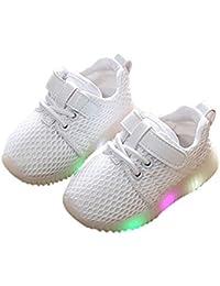 Zapatos de niños, Calzados/Zapatillas/Sandalias de niños Zapatos de Deporte de Las Muchachas de los bebés de la Moda con Las Zapatillas de Deporte Suaves Luminosas Respirables del LED
