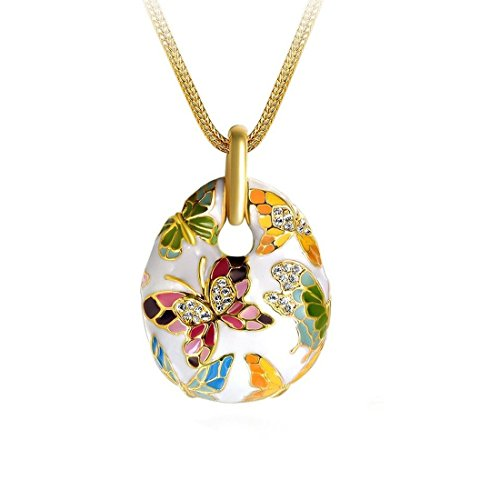 YELLOW CHIMES Queen of Versailles Enamel Austrian Crystal Pendant for Women and...