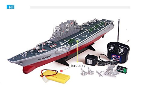 MODELTRONIC Carrier Challenger Maßstab 1: 275 XXL RC ferngesteuertes Schlachtschiff Schiff-Modell Kriegsschiff Modellbau, Ready-to-Run ,Komplett-Set Inkl. Zubehör HT-2878A