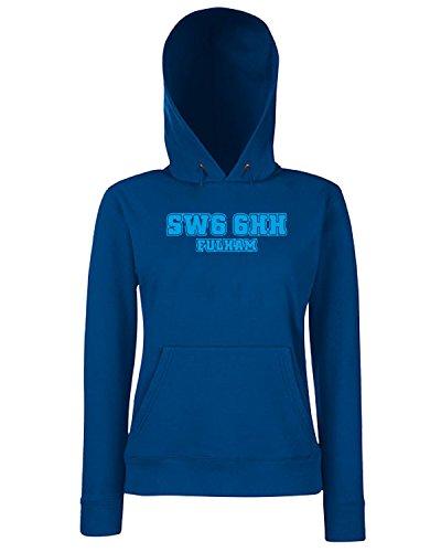 T-Shirtshock - Sweats a capuche Femme WC1086 fulham-postcode-tshirt design Bleu Navy