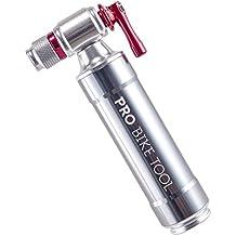 CO2 by PRO-Pompa per bicicletta, affidabile & Fast-Kit per riparazione camera d'aria, con valvola Presta-Schrader per pompa & & da strada, Mountain BIKE, isolato o Barattolo in metallo, senza cartuccia di CO2 inclusi