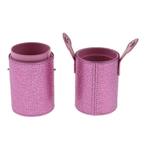 CUTICATE Make Up Pinsel Veranstalter Halter Kosmetik Pinsel Fall Zylinder Fall Speicherrohr - Rosa