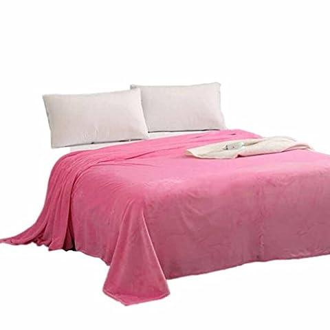 Warm Vlies Decke HARRYSTORE Super Weich Solide Warm Mikro Plüsch Fleecedecke Werfen Teppich Sofa Bettwäsche (S: 70*100cm, (Rosa Camo Hund)