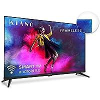 "Kiano Elegance TV 50"" Pouces 4K UHD HDR10 Metal Case (Android TV 9.0 2GB RAM Metal Case [Téléviseur 127 cm Frameless 8GB…"