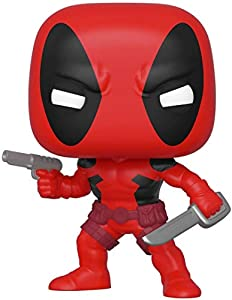 Funko Pop Bobble Marvel: 80th-First Appearance: Deadpool Figura Coleccionable, Multicolor (44154)