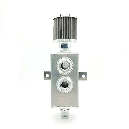 heinmo 1L Universal Raw Aluminium-Öl Catch kann Tank Breather &-Auslaufhahn 5067
