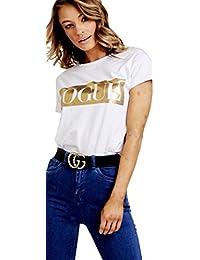 1d9c3f15 XuBiDuBi Women Guilty Bonjour Liberte Queen Slogan T Shirt Celebrity  Inspired Slogan Tee Shirt Top