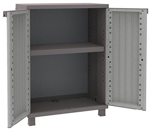 Produktbild Terry Schrank, niedrig, aus Kunststoff, mit Einlegeboden, grau/taupé