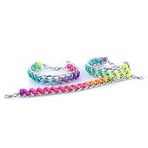 1 Bracelet Double Maille et Corde Multicolore 15 cm