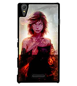 Printvisa 2D Printed Girly Designer back case cover for Sony Xperia T3 - D4622