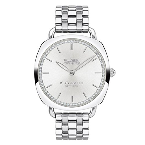 Business 14503010 Silver Dial Women's Analog Coach Quartz Coach Tatum Slim