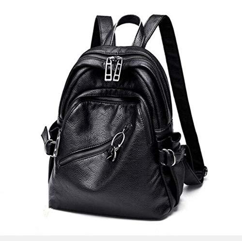 NCCDY Leder Rucksack, Business weiches Leder Anti-Diebstahl-Rucksack for Männer Schule College Bookbag Laptop-Computer-Taschen, (Große Schule Bookbags)
