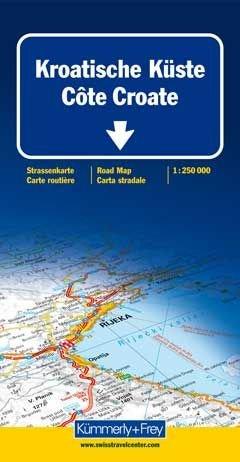 Kroatische Küste/Istrien/Dalmatien 1 : 250 000. Straßenkarte: Mit touristischen Informationen.: Alle Infos bei Amazon
