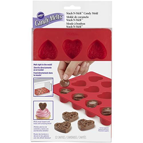 elzen Silikon Candy Mold-Heart 12Mulden (1Design), andere, Mehrfarbig ()
