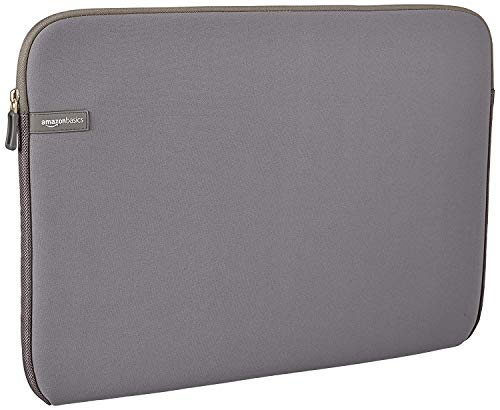 AmazonBasics 17.3-inch Laptop Sleeve - Internal Dimensions - 16.7 X 0.7 X 12.2 Inches - Grey