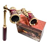 HQRP 3 x 25 Opera Glasses / Theatre Glass Binocular w/ Crystal Clear