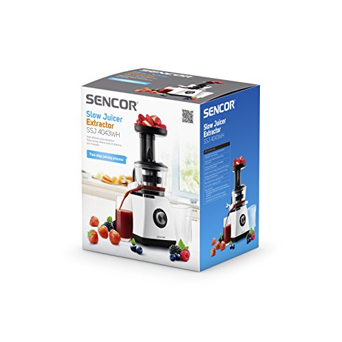 Sencor Slow Juicer Extractor Ssj 4043wh : Sencor SSJ 4043WH - Exprimidor lento utensilioshogar.es