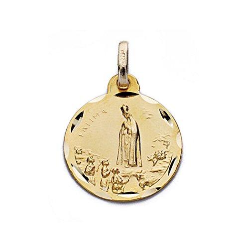 Medalla oro 9k Virgen de Fátima 16mm. [AA0682GR] - Personalizable - GRABACIÓN INCLUIDA EN EL PRECIO