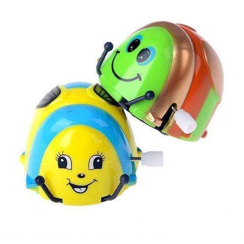 UChic 3 STÜCKE Cartoon Tier Typ Käfer Crawlen Rollen Uhrwerk Wind up Laufende Schöne Glückliche Spielzeug Farbe Zufällig