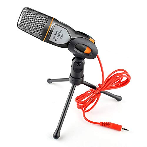Voice Computer (HoganeyVan Computer Voice Microphone with Stand Capacitor Microphone Handheld Microphone Computer Main Direct-Broadcast and Audio-Video)