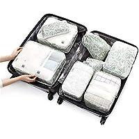 BaBaSM Praktisch Reisegepäck Organizer Verpackung Würfel, 8 Teile/Satz Reisegepäck Veranstalter Aufbewahrungstaschen Koffer Verpackung Taschen