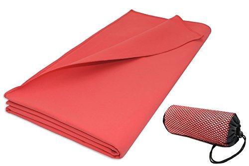 ZOLLNER® Toalla de microfibra grande 90x180 cm / toalla secado rápid