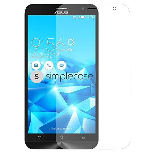 Simplecase Premium Bildschirmschutz Größe: Asus Zenfone 2 Deluxe aus 9H Panzerglas/ Echtglas/ Verb&glas - Transparent