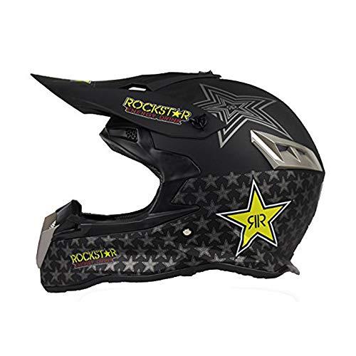 Woljay Off Road Helm Motocross-Helm Motorradhelm Motocrosshelme Fahrrad ATV Schwarz (M)