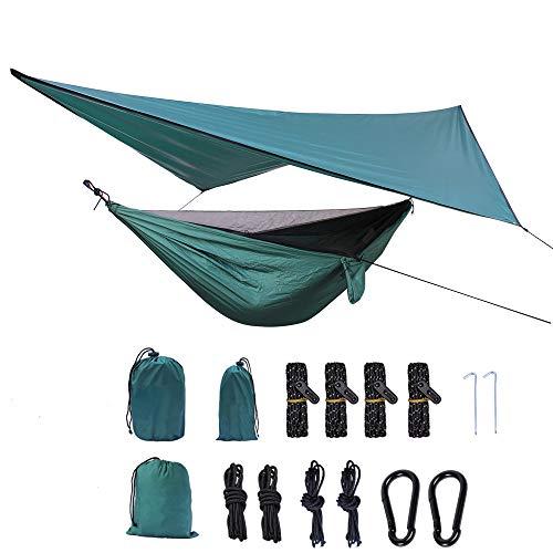Camping-Hängematte mit herausnehmbarem Moskitonetz 2 in 1 Doppelt Leicht Belastbarkeit Outdoor Swing Schlafsofa Zelt